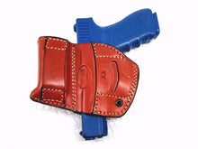 Load image into Gallery viewer, Glock 19 Belt Leather Holster with Mag Pouch Right Hand