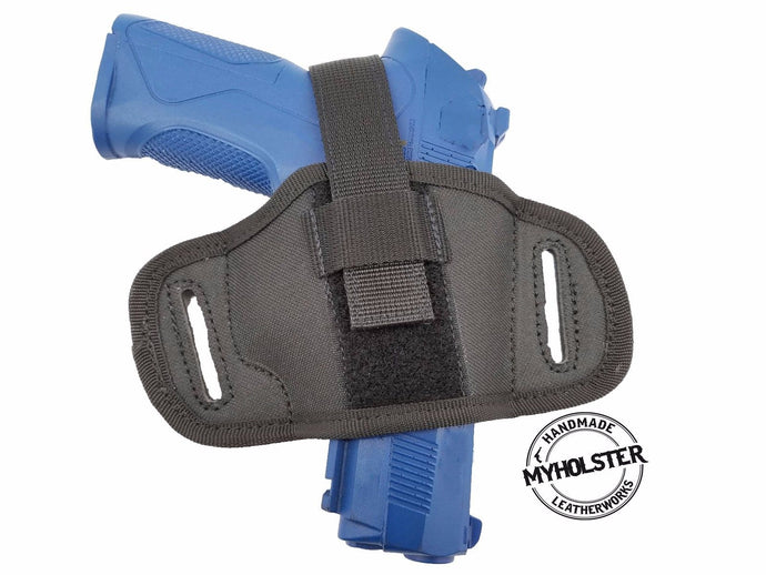 Semi-molded Thumb Break Pancake Belt Holster for Colt 1911 Commander Cocked