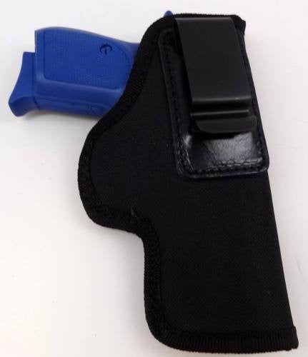 Black Nylon Left Handed IWB/ITP W/ Strong Steel Clip Holster Large