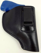 Black Leather Left Handed IWB/ITP W/ Strong Steel Clip Holster Revolver