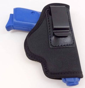 Black Nylon Left Handed IWB/ITP W/ Strong Steel Clip Holster Compact