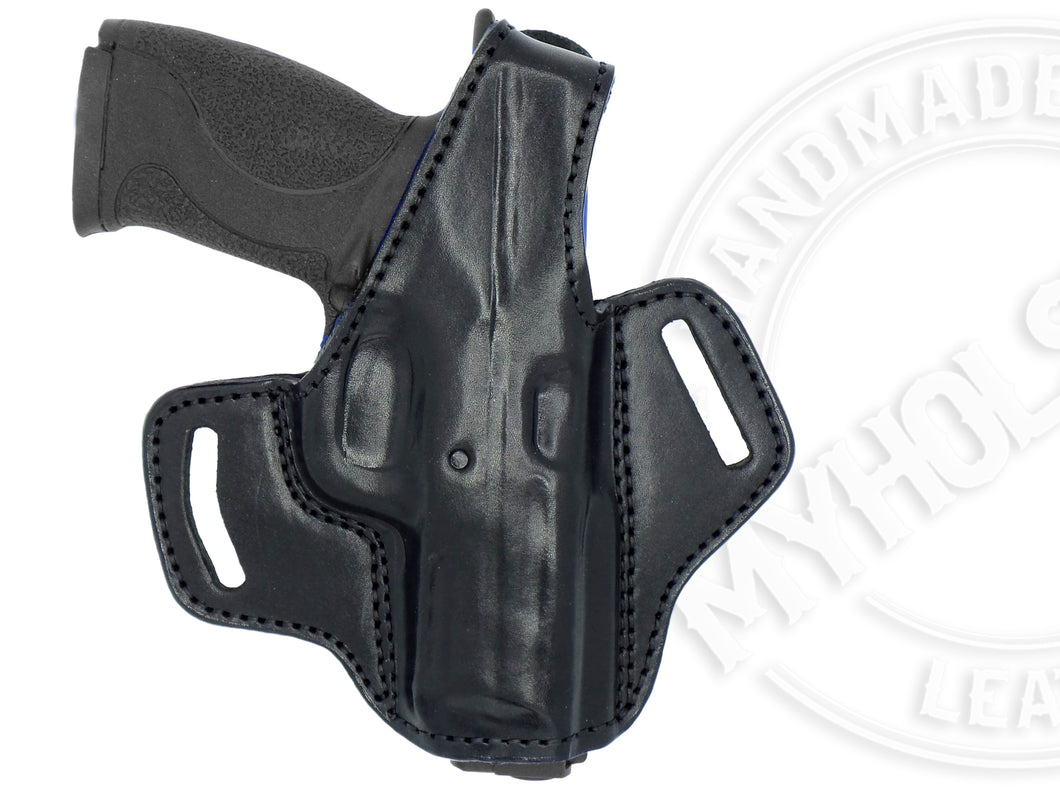 Smith & Wesson M&P .45 OWB Thumb Break Right Hand Leather Belt Holster