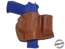 Sig Sauer P245 Belt Holster with Mag Pouch Leather Holster