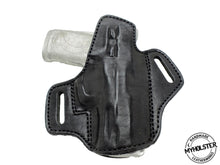 Load image into Gallery viewer, S&W M&P 380 Shield EZ Premium Quality Black Open Top Pancake Style OWB Holster