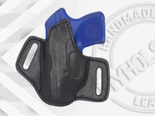 Load image into Gallery viewer, RUGER LCP Premium Quality Black Open Top Pancake Style OWB Holster