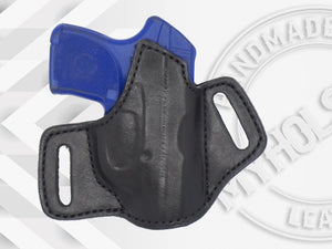 RUGER LCP Premium Quality Black Open Top Pancake Style OWB Holster