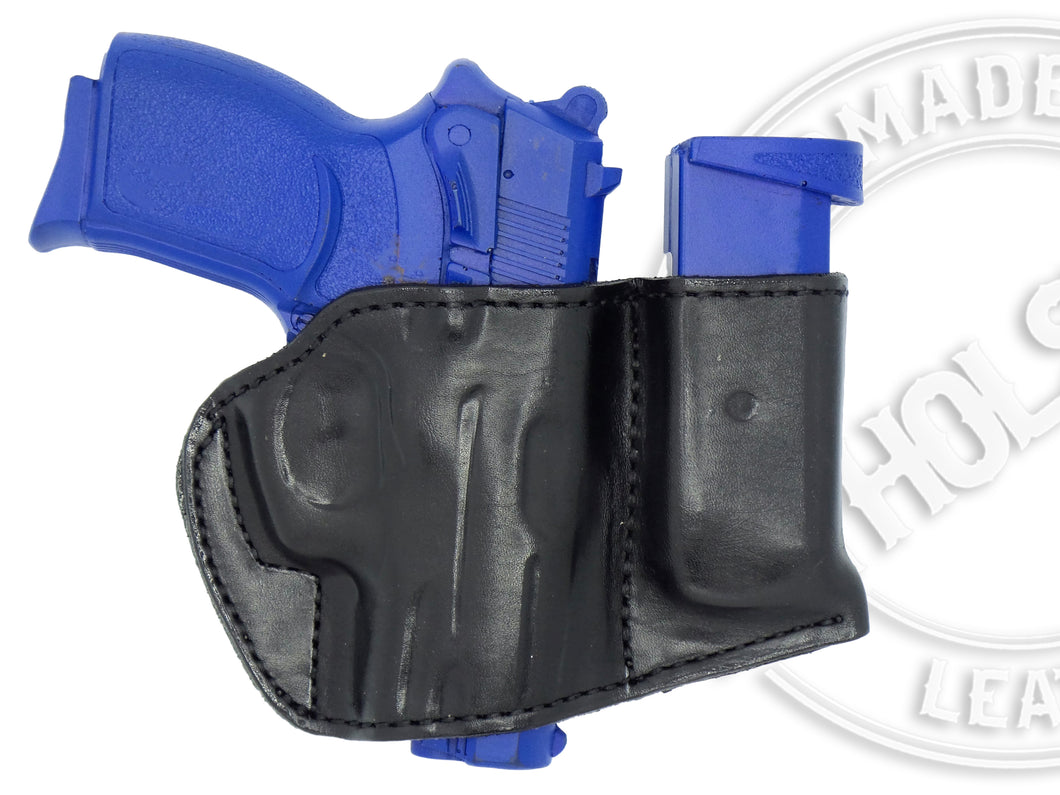 Bersa Thunder Ultra Compact 45 Holster and Mag Pouch Combo - OWB Leather Belt Holster