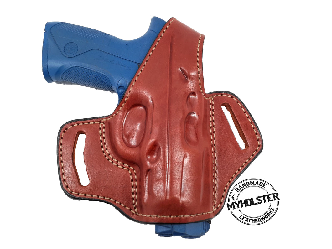 Ruger American 9mm OWB Thumb Break Leather Belt Holster