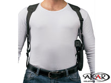 "Akar UNIVERSAL Right Hand Vertical Shoulder Holster Fits Most Popular Medium and Large Frames 3.5"", 4"".5"",6"""