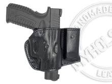 Load image into Gallery viewer, Sig 1911 Fastback Nightmare .357 OWB Holster w/ Mag Pouch Leather Holster