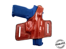 S&W M&P Shield M2.0 OWB Thumb Break Compact Style Right Hand Leather Holster