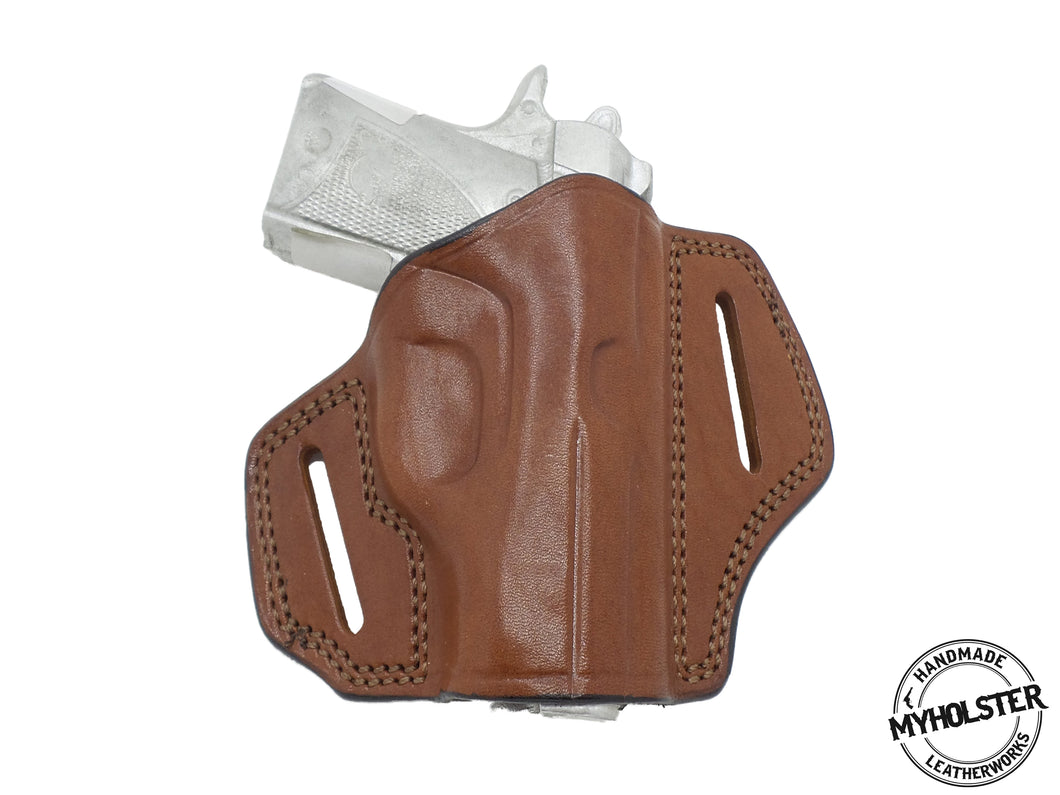 Springfield Micro Compact 1911 .45 ACP Right Hand Open Top Leather Belt Holster
