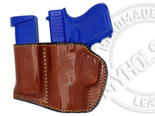 GLOCK 26 Holster and Mag Pouch Combo - OWB Leather Belt Holster
