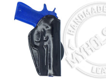 Smith & Wesson Bodyguard .380 with laser  OWB Quick Draw Right Hand Leather Paddle Holster