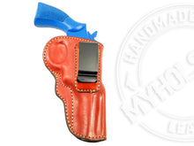 "Load image into Gallery viewer, Smith & Wesson K-Frame 4"" IWB Inside the Waistband Leather Belt Holster"