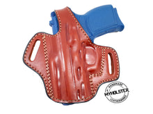 Kahr CM9 w/ Crimson Trace OWB Thumb Break Leather Belt Holster - Choose Your Hand and Color