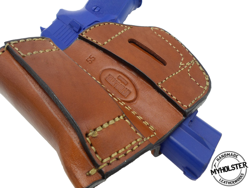 1911 5-Inch Colt, Kimber, Para, Springfield Belt Holster with Mag