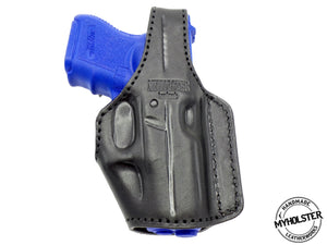 MOB Middle Of the Back IWB Right Hand Leather Holster Fits Glock 26/27/33