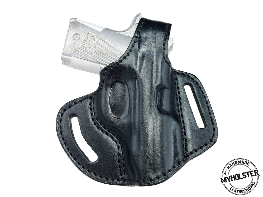 KIMBER MICRO 9 OWB Right Hand Thumb Break Leather Belt Holster