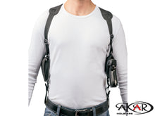 "Vertical Carry Shoulder Holster for S&W M&P 9 40 45 4.25"" - Checkerboard Pattern"