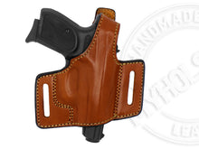 Load image into Gallery viewer, OWB Quick Draw Leather Slide Holster W/Thumb-Break Fits Bersa Thunder .380 ACP