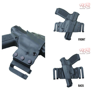 CANIK TP9 SFL & Similar Frames - Akar Scorpion OWB Kydex Gun Holster W/Quick Belt Clips