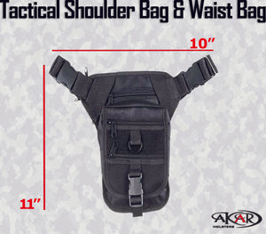 (WSP) Multi Functional Advanced Tactical Shoulder/ Waist Bag for Concealed Gun Carry-Fanny Pack