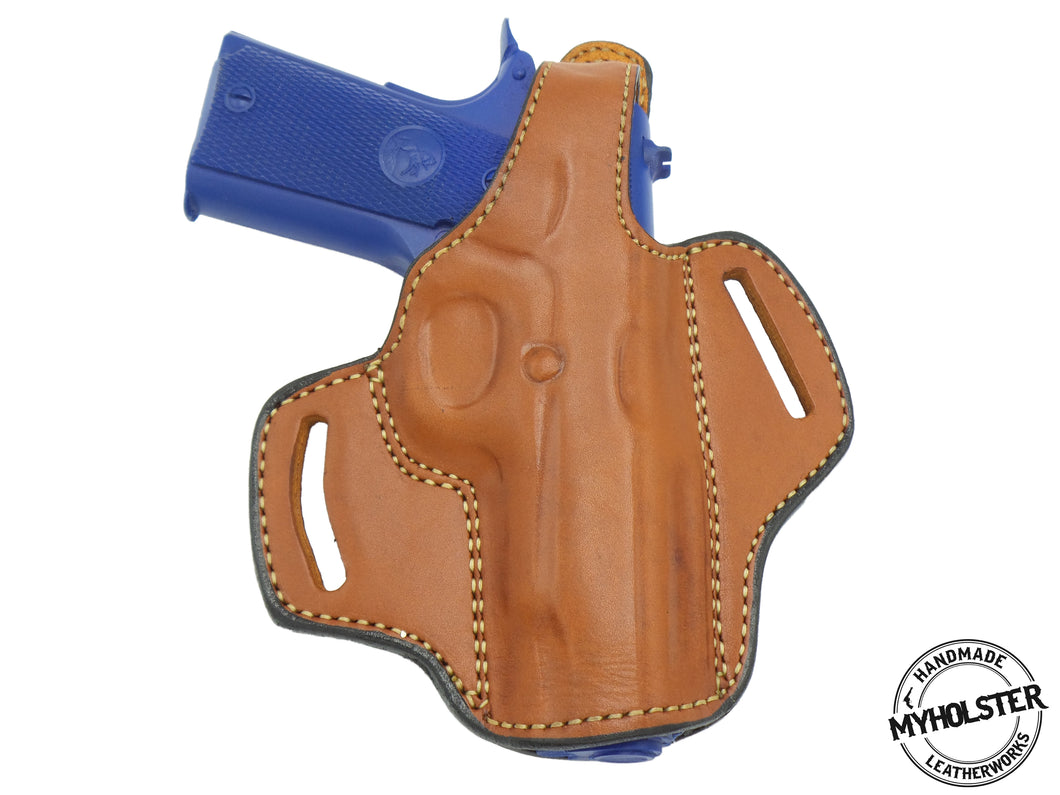 1911 - 3 inch OWB Thumb Break Right Hand Leather Belt Holster