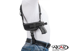 S&W 9mm Model 59 Nylon Horizontal Shoulder Holster with Double Mag Pouch RH