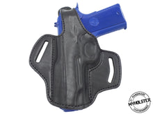 "Load image into Gallery viewer, Kimber Ultra Carry II 9mm 3"" OWB Thumb Break Right Hand Leather Belt Holster"