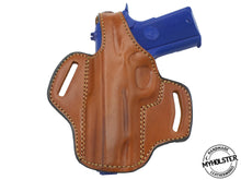 "Kimber Ultra Carry II 9mm 3"" OWB Brown Thumb Break Right Hand Leather Belt Holster - PICK YOUR COLOR & HAND"