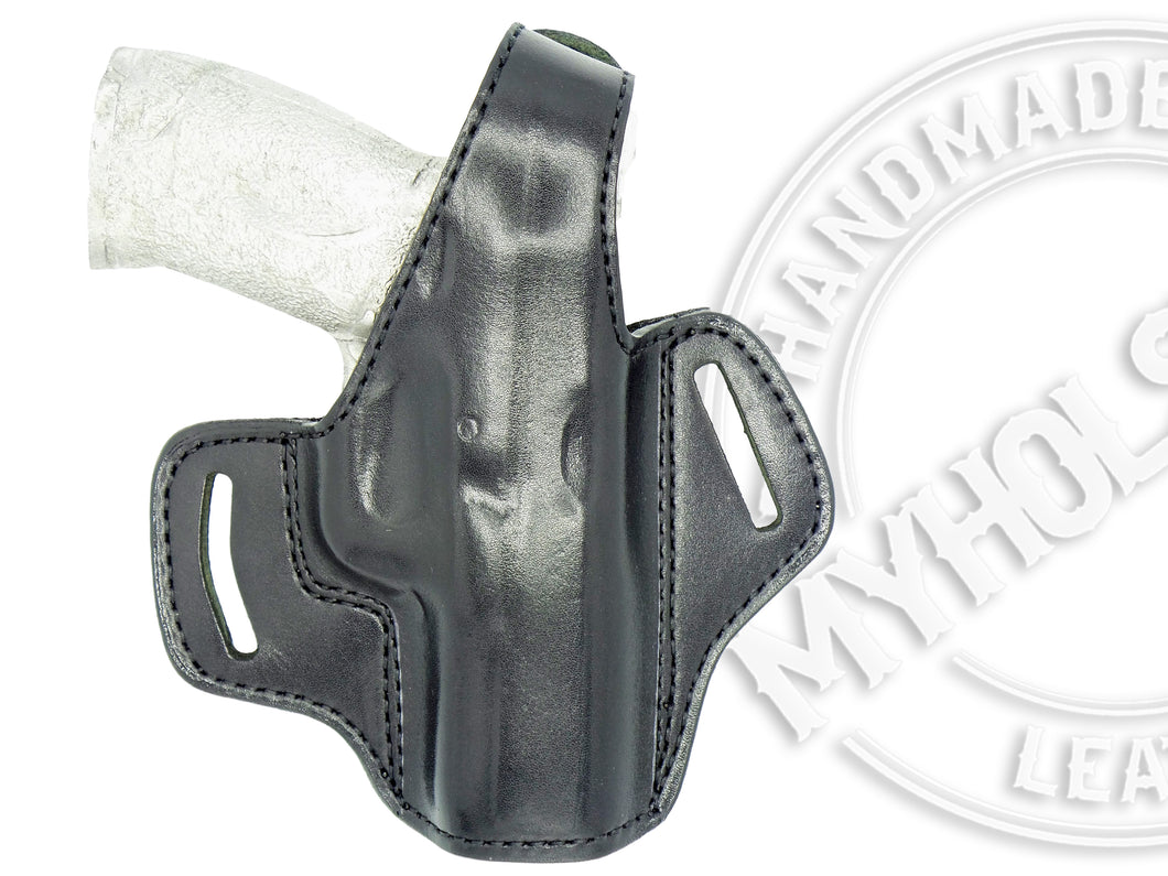 Sig Sauer P320-M17 OWB Thumb Break Leather Belt Holster
