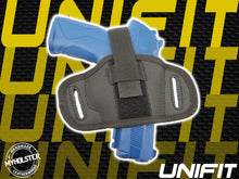 Load image into Gallery viewer, Universal Fit Holster (UNIFIT) Thumb Break Ambidextrous Semi-molded Pancake Belt Holster
