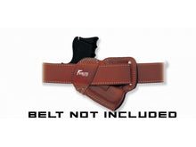 EAA SAR K2P 9MM SOB Small Of the Back Brown Right Hand Leather Holster