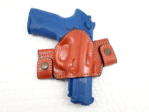 Beretta Px4 Storm Type F Full Size 9 mm OWB Snap-on Leather Holster
