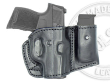 SIG SAUER P365 XL Holster and Mag Pouch Combo - OWB Leather Belt Holster