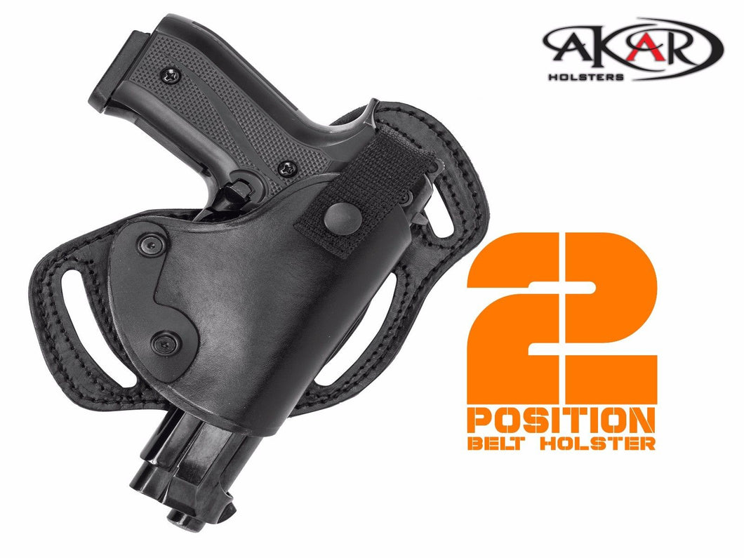 SCCY CPX 1 & CPX 2 Horizontal or Vertical SOB MOB LEATHER BELT HOLSTER