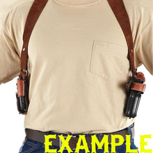 "SPRINGFIELD XD45 4"" Shoulder Leather Holster System with Double Mag Pouch"
