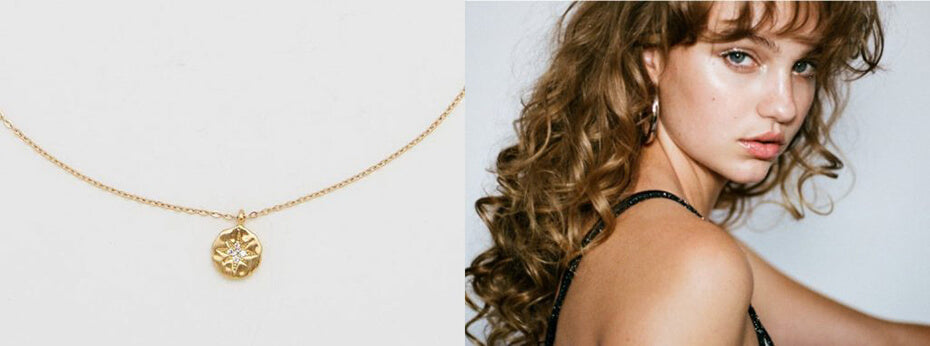 Trendy elegant simple necklace