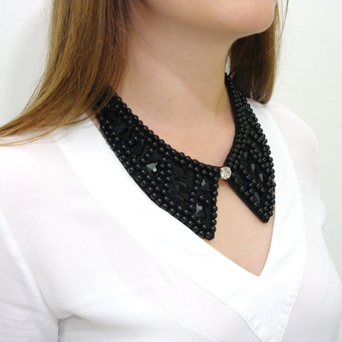 Blackbeaded Perfection Collar by Next Amy Jewelry