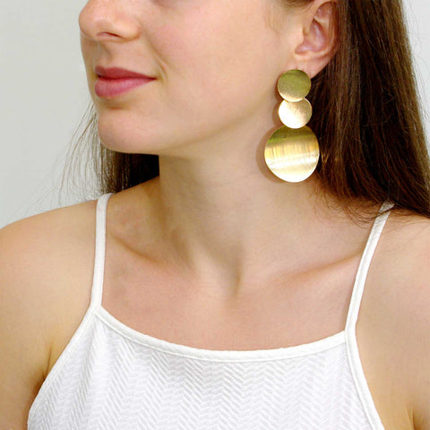 Geometric Water Drop Earrings