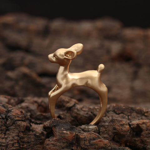 Next Amy Gold Color Deer Adjustable Ring