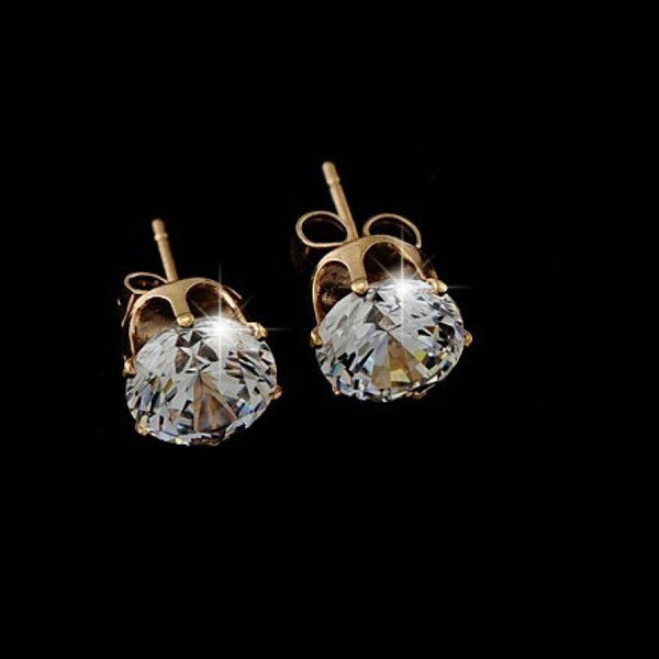 One Sparkle Gold Earrings