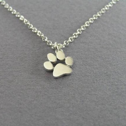 One Paw Print Gold Necklace