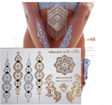 Oriental Metallic Temporary Tattoos