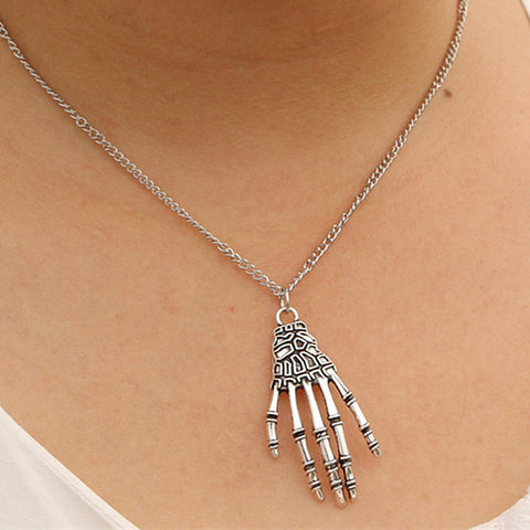 Skeleton Hand Pendant Necklace
