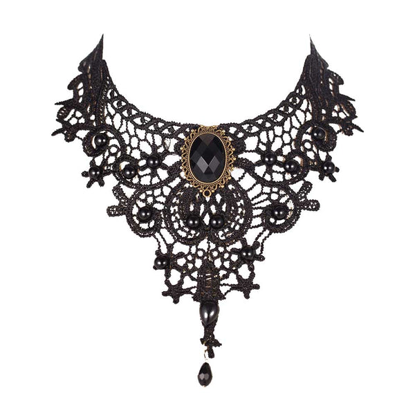 Black Royalty Lace Choker