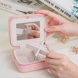 Travel Pastel Casket Box Jewelry Organizer