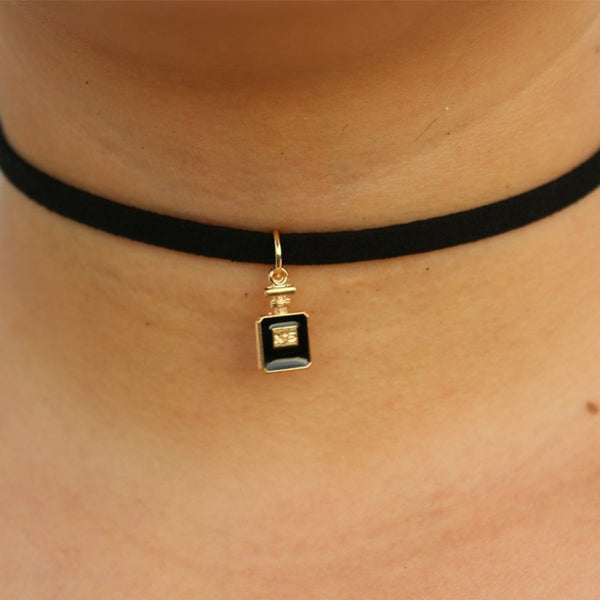 Little Pendant Black Choker