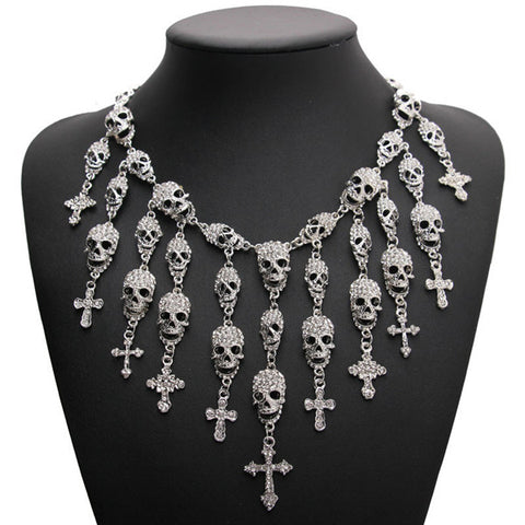 Full Of Skulls Necklace
